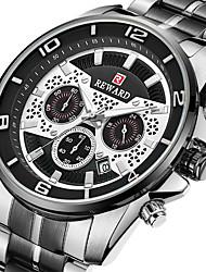 cheap -Reward men's sports watch three-eye chronograph watch luminous stainless steel strap watch