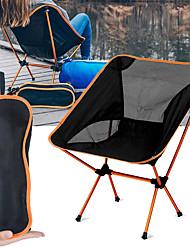 cheap -Camping Chair Portable Ultra Light (UL) Foldable Breathable Aluminium Alloy 7005 Mesh Oxford for 1 person Fishing Beach Camping Travel Autumn / Fall Winter Fuchsia Orange Navy Blue Dark Blue