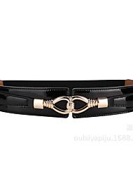 cheap -women's leather belts, women's elastic elastic buttons, and dress coats, girdle, women's fashion, versatile, wide belts