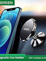 cheap -UGREEN Phone Holder Stand Mount Car Car Holder Stickup Type Magnetic Phone Holder Aluminum Alloy Phone Accessory iPhone 12 11 Pro Xs Xs Max Xr X 8 Samsung Glaxy S21 S20 Note20