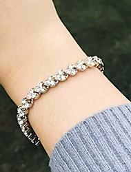cheap -zehory rhinestone bangle bracelet crystal charm bracelets for women and girls (silver)