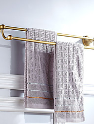 cheap -Multifunction Towel Bar New Design Antique Brass Double Rods Bathroom Shelf Wall Mounted 1pc
