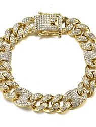 cheap -Cuban Link Bracelet Heart European Alloy Jewelry Silver For Gift