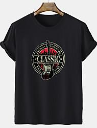 cheap -Men's Unisex Tee T shirt Hot Stamping Graphic Prints Guitar Short Sleeve Casual Tops 100% Cotton Basic Fashion Designer Comfortable White Black Gray