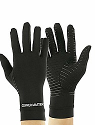 cheap -highcamp copper arthritis compression gloves full finger for men women, daily support relief hand pain, rheumatoid, carpal tunnel, osteoarthritis, x-large