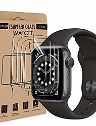 cheap -wsky protective film compatible with apple watch series 4/5/6 / se (40mm) [4 pieces], tpu flexible, high transparency, high sensitivity, ultra-thin, anti-dirt protective film