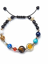 cheap -solar system bracelet beaded universe galaxy the eight planets guardian star natural stone beads rope woven bracelet bangle jewelry gifts for women girls-rope