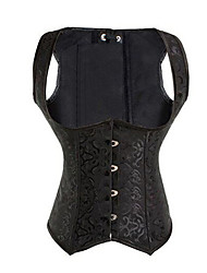 cheap -Corset Women's Plus Size Bustiers Corsets Underbust Corset Overbust Corset Classic Tummy Control Fashion Abstract Embroidered Flower Hook & Eye Lace Up Nylon Polyester / Cotton Christmas Halloween