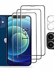 cheap -amnie screen protector protective film [3 pieces] + camera protective film [1 piece] for iphone 12 mini [5.4 inch], [9h hardness] [anti-scratch] [anti-oil] [anti-bubbles] - black