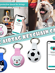 cheap -For Apple AirTag Silicone Shockproof Anti-drop Anti-scratch Accessories For AirTag Keychain Protector Tracker Anti-lost Device