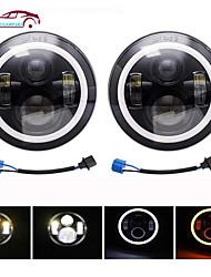 cheap -OTOLAMPARA 120W 7'' Led Headlight H4 H13 High Low Beam Car Amber Running Lights for Jeep Wrangler JK Lada Niva 4x4 IP68 Waterproof 2pcs