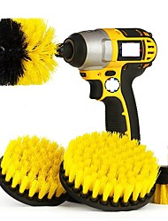 cheap -Electric Scrubber Brush Drill Brush Kit Plastic Round Cleaning Brush for Carpet Glass Car Tires Nylon Brushes without Electric Drill
