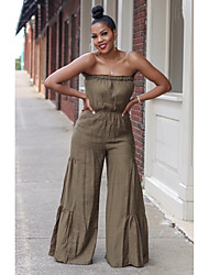 cheap -d8372 new product aliexpress amazon europe and the united states cross-border hot-selling chest-wrapped cotton and linen jumpsuit in stock