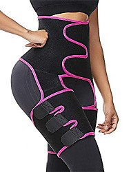 cheap -Corset Women's Plus Size Sport Tummy Control Adjustable Solid Color Hook and Loop Others Neoprene Running Gym Walking Driving Fall Winter Spring Summer High waist red High waist yellow High waist