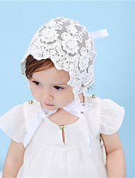 cheap -1pcs Toddler / Baby Girls' Sweet Daily Wear / Vacation / Going out Solid Colored Hole Polyester Hair Accessories White One-Size / Bandanas