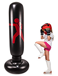 cheap -Kids Inflatable Freestanding Punching Bag Heavy Kickboxing Punching Bags for Kids & for Women Portable Indoor Home Child and Adult Weighted Boxing Punching Bag for Practicing Karate Taekwondo MMA