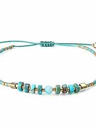 cheap -kelitch colorful beads strand bracelet handmade bohemia friendship charm string bangles anklet fashion jewelry for women