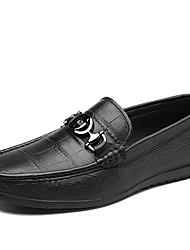 cheap -Men's Loafers & Slip-Ons Leather Shoes Tassel Loafers Dress Loafers Business Casual Classic Daily Party & Evening Nappa Leather Cowhide Breathable Handmade Non-slipping Booties / Ankle Boots Black