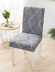 cheap -Grey Stripe Super Soft Chair Cover Stretch Removable Washable Dining Room Chair Protector Slipcovers Home Decor Dining Room Seat Cover