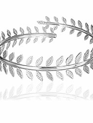 cheap -long tiantian gold swirl leaf upper arm bracelet leaves branch armlet 14k gold plated cuff bangle armband adjustable