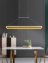 cheap -LED Pendant Light Modern Stylish Gold Coffee Square Circle Design 90cm Metal Painted Finishes Artistic For Dining Room Living Room 110-120V 220-240V