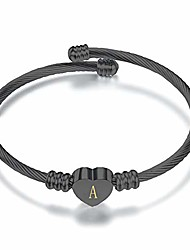 cheap -nanmuc birthday initial letter a heart cuff bracelets capital alphabet name expandable bangle bracelets for women girls birthday gifts