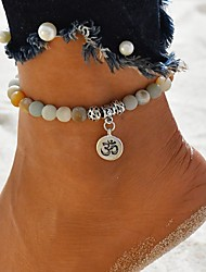 cheap -Anklet Boho Women's Body Jewelry For Date Festival Beads Stone Rainbow 1pc
