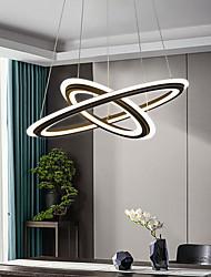 cheap -LED Pendant Light 50cm Ring Design Modern Black Gold Acrylic LED Nordic Style 110-240 V