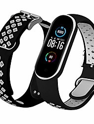 cheap -th-some bracelet for xiaomi mi band 5, air holes, breathable, colorful, soft silicone, replacement bracelet