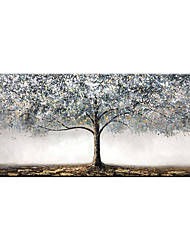 cheap -Oil Painting Handmade Hand Painted  Wall Art Modern Abstract Golden Tree Home Decoration Decor Rolled Canvas No Frame Unstretched