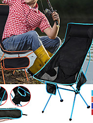 cheap -Camping Chair with Cup Holder with Side Pocket High Back with Headrest Portable Ultra Light (UL) Foldable Comfortable Mesh 7075 Aluminium Alloy for 1 person Hunting Fishing Beach Camping Spring