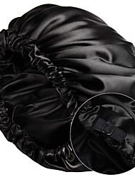 cheap -Satin Bonnet Sleep Bonnet Cap Extra Large Double Layer Reversible Adjustable Satin Cap for Sleeping Hair Bonnet