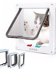 cheap -Dog Cat Pet Door Window Pet Door Dog Fence Window Window Pet Door Window Dog Door Plastic S M L White Brown 1 PC