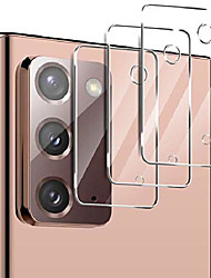 cheap -Phone Screen Protector For SAMSUNG S21 S21 Plus S21 Ultra S20 S20 Plus Tempered Glass 3 pcs High Definition (HD) Scratch Proof Camera Lens Protector Phone Accessory