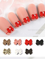 cheap -7 Pcs Nail Art Jewelry Fingertip Frosted Bow Small French Nail Three-Dimensional Frosted Matte Bow Jewelry