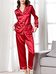 cheap -Women's Normal Chemises & Gowns Robes Suits Cut Out Mesh Jacquard Solid Colored Spandex Polyester / Sexy