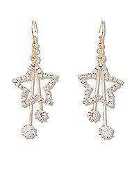 cheap -gespout glitzy crystal star shape dangle tassel earrings charming daily party bar dress jewellery accessories for women girl