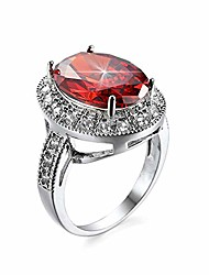 cheap -hsqyj oval art deco wedding engagement ring rhodium plated cocktail ring with simulated oval red crystal clear cz band ring fashion luxury jewelry for women girl gift (red crystal, 10)