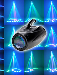 cheap -LED Stage Light Disco Lamp Small Airship 64LEDs RGBW Voice Control Moonflower Stage Effect Light for DJ Party Wedding Events Club Disco Party
