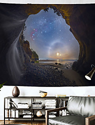 cheap -Wall Tapestry Art Decor Blanket Curtain Hanging Home Bedroom Living Room Decoration Polyester Beach Starry Sky
