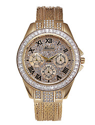 cheap -round gold fine grain broadband copper diamond watch