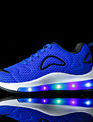 cheap -Boys and Girls Trainers Athletic Shoes LED Shoes Not rechargeable Elastic Fabric Light Up Shoes Big Kids(7years +) Little Kids(4-7ys) Toddler(9m-4ys) Daily Walking Shoes LED Red Blue Pink Fall Spring