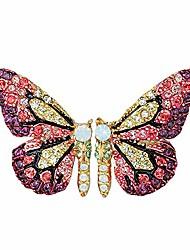 cheap -gbahfy fairy tale butterfly earrings for women colorful rhinestone wing stud earrings trendy gifts for girls woman accessories (rhinestone wing stud earrings-orange)