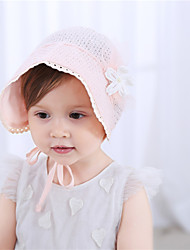 cheap -1pcs Toddler / Baby Girls' Sweet Daily Wear / Vacation Floral / Solid Colored Floral Style Polyester Hair Accessories Blushing Pink / White One-Size