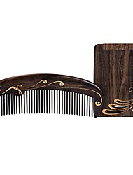 cheap -mirror + hair comb set anti-static hairbrush natural wood hair care combs for curly, straight, long, short, thick, thin,dry etc.