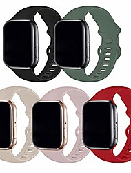 cheap -Smartwatch band  5 pack compatible with apple watch band 38mm 40mm ml,soft silicone sport replacement straps compatible for iwatch series6/5/4/3/2/1/se(black/pine green/stone/pink sand/red)