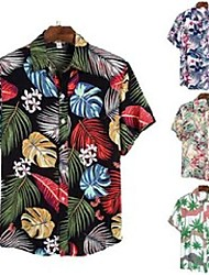 cheap -men's casual shirts hawaiian mens funny avocado printed turn down short sleeve men button streetwear beach camisa