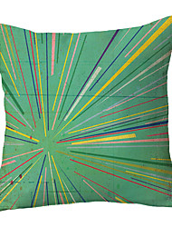 cheap -Double Side Cushion Cover 1PC Soft Decorative Square Throw Pillow Cover Cushion Case Pillowcase for Sofa Bedroom Superior Quality Machine Washable Radial Lines on Green Background