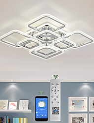 cheap -LED Ceiling Light Square Chrome Ceiling Lamp Bubble Acrylic Modern Dimmable Ceiling Light Flush Mount LED Ceiling Lamp with Remote Control for Living Room Bedroom Dining Room AC110V AC220V