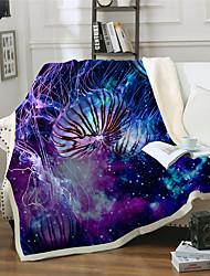 cheap -Microfiber Throw Blanket All Season For Couch Chair Sofa Bed Picnic Jellyfish Sea Ocean Animals Soft Fluffy Warm Cozy Plush Autumn Winter